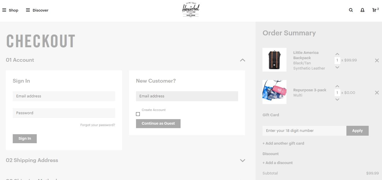 Herschel coupon code