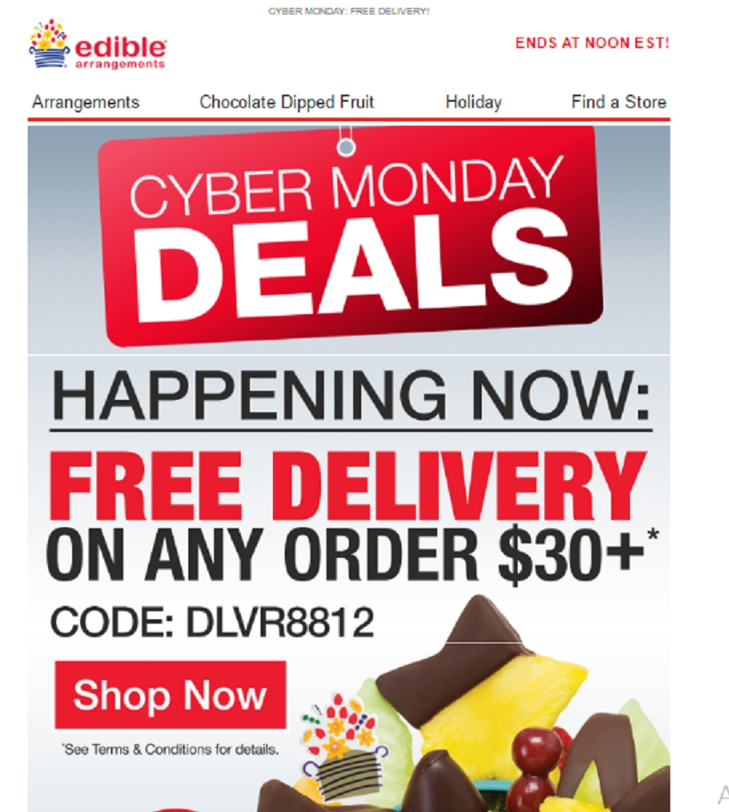Edible arrangements coupon code free delivery