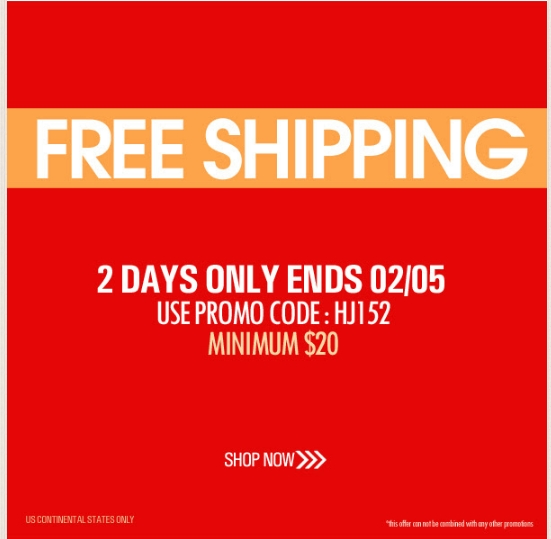 Clothing stores with free shipping on all orders