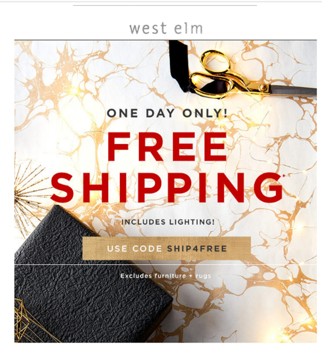 West elm free shipping coupon code