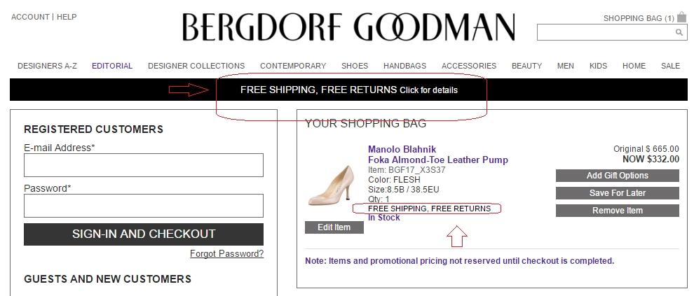 Bergdorf goodman coupon code