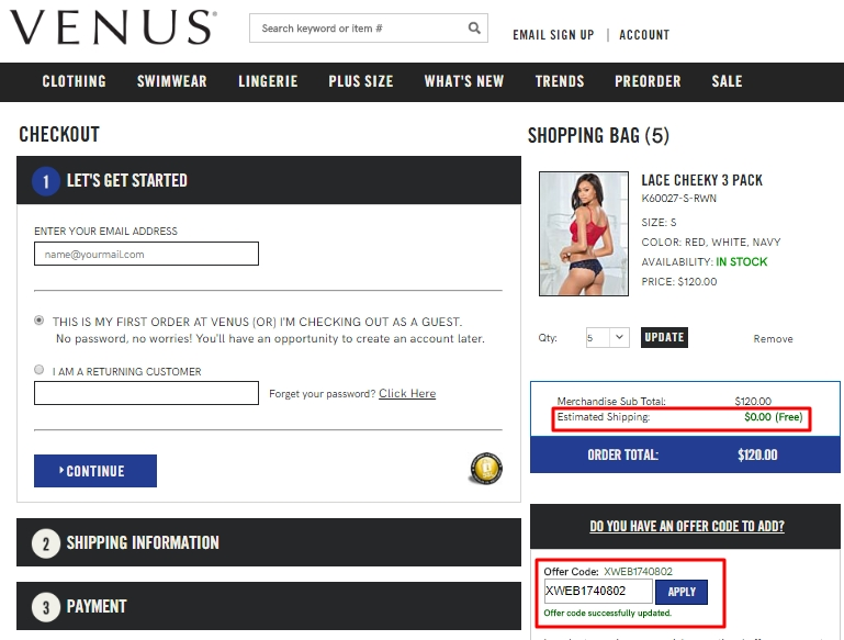 Venus com coupon code