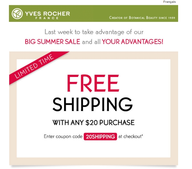 yves rocher france promotion