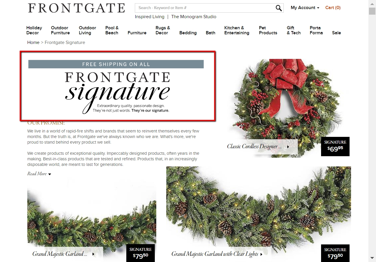 Frontgate coupon code 2018