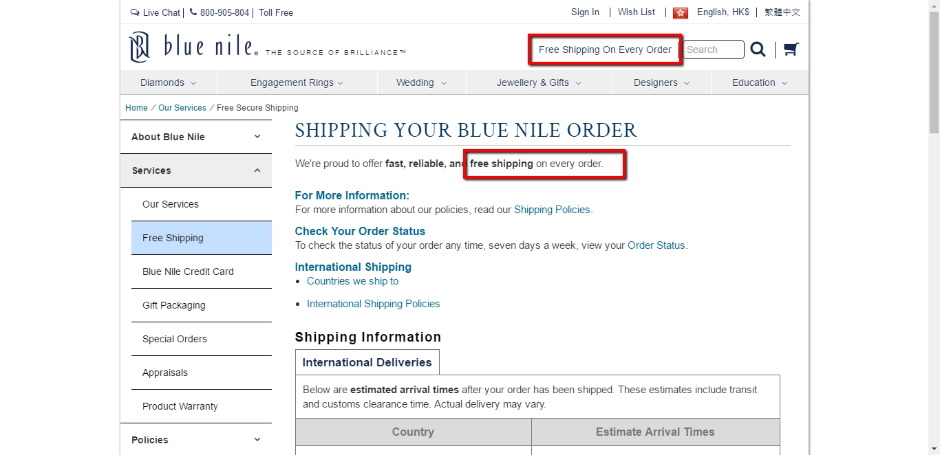 Blue nile coupons 20