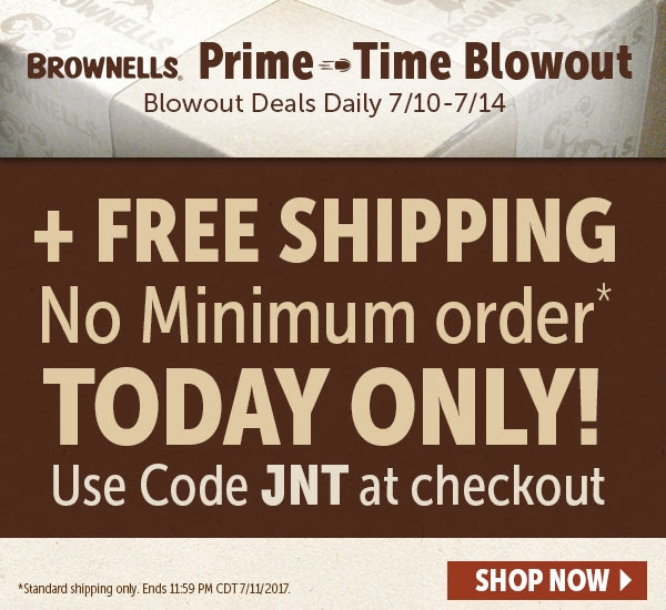 Brownells free shipping coupon 2018