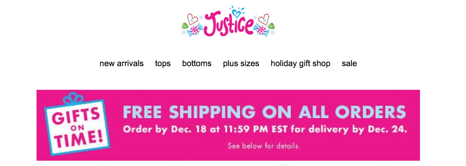 Justice coupons free shipping