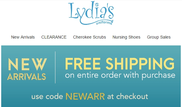 Lydia's uniforms coupon code