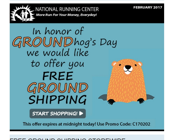 Coupons for running center