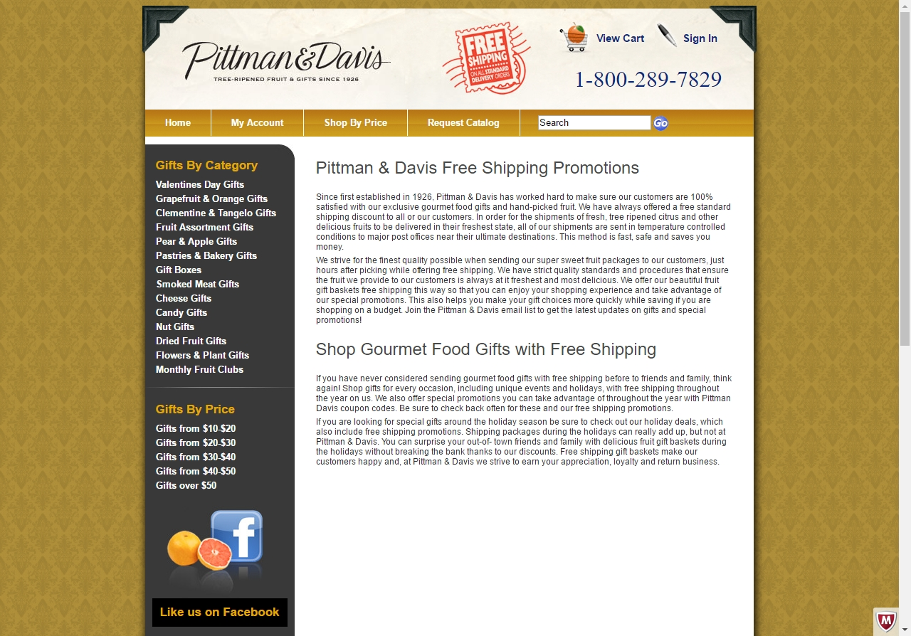 Pittman & Davis is a company that specializes in selling smoked meats, orchard fresh fruit, pastries, cheeses, candies and other items for gift foods.