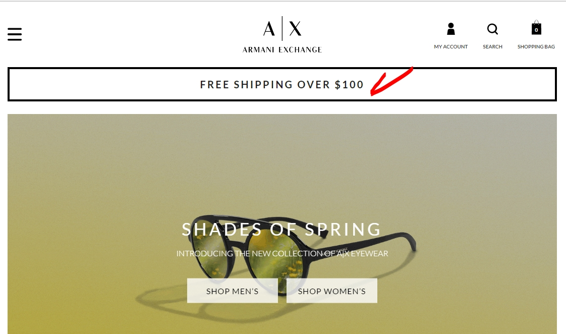 Armani exchange coupon code