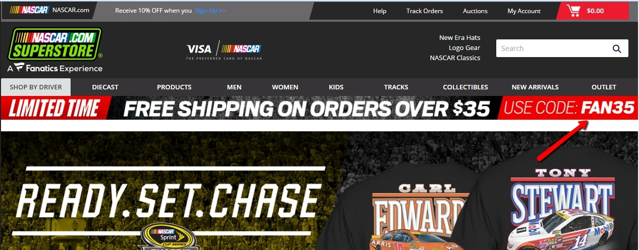 Nascar Shop Promotional Codes