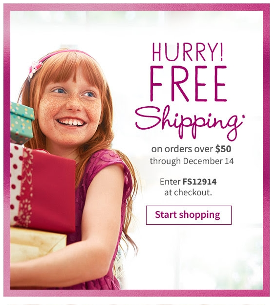 Coupon code american girl doll free shipping