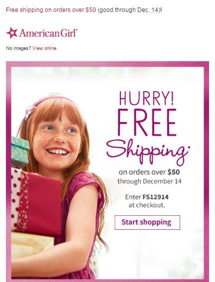 American girl coupon code free shipping