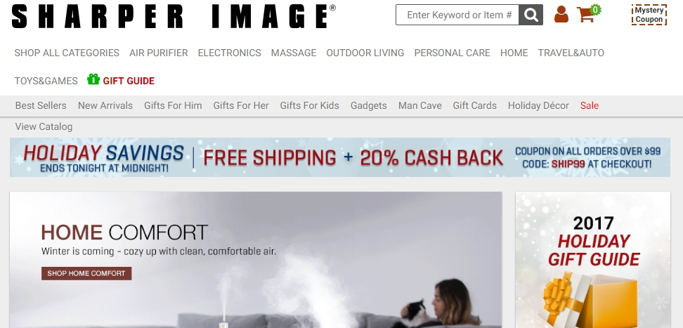 There are 14 Sharper Image coupons for you to consider including 12 coupon codes, and 2 sales. Most popular now: $15 Off $+ Sharper Image Coupon. Latest offer: Shop Latest Sharper Image Discounts.