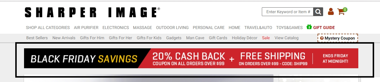 Sharper image coupon code