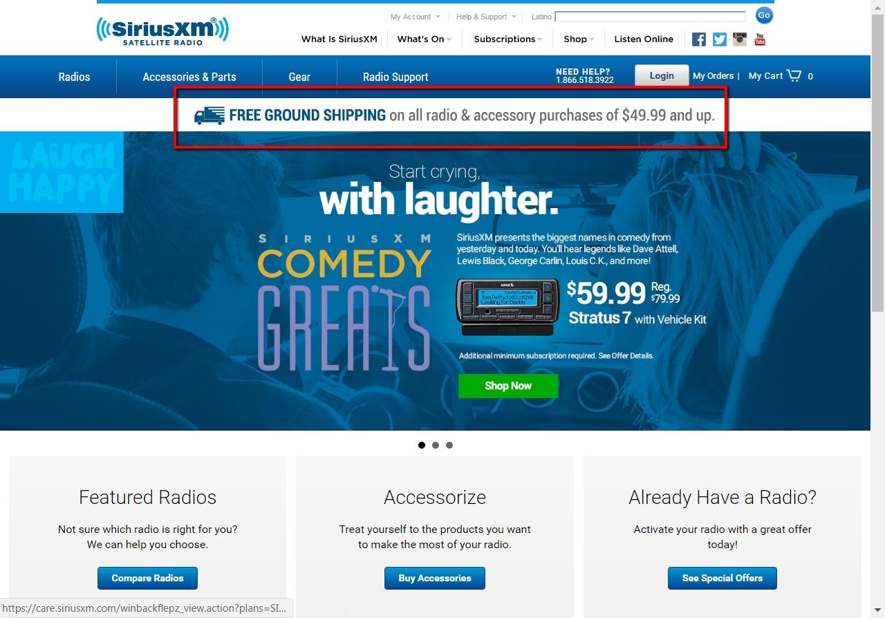 Sirius radio discounts coupons