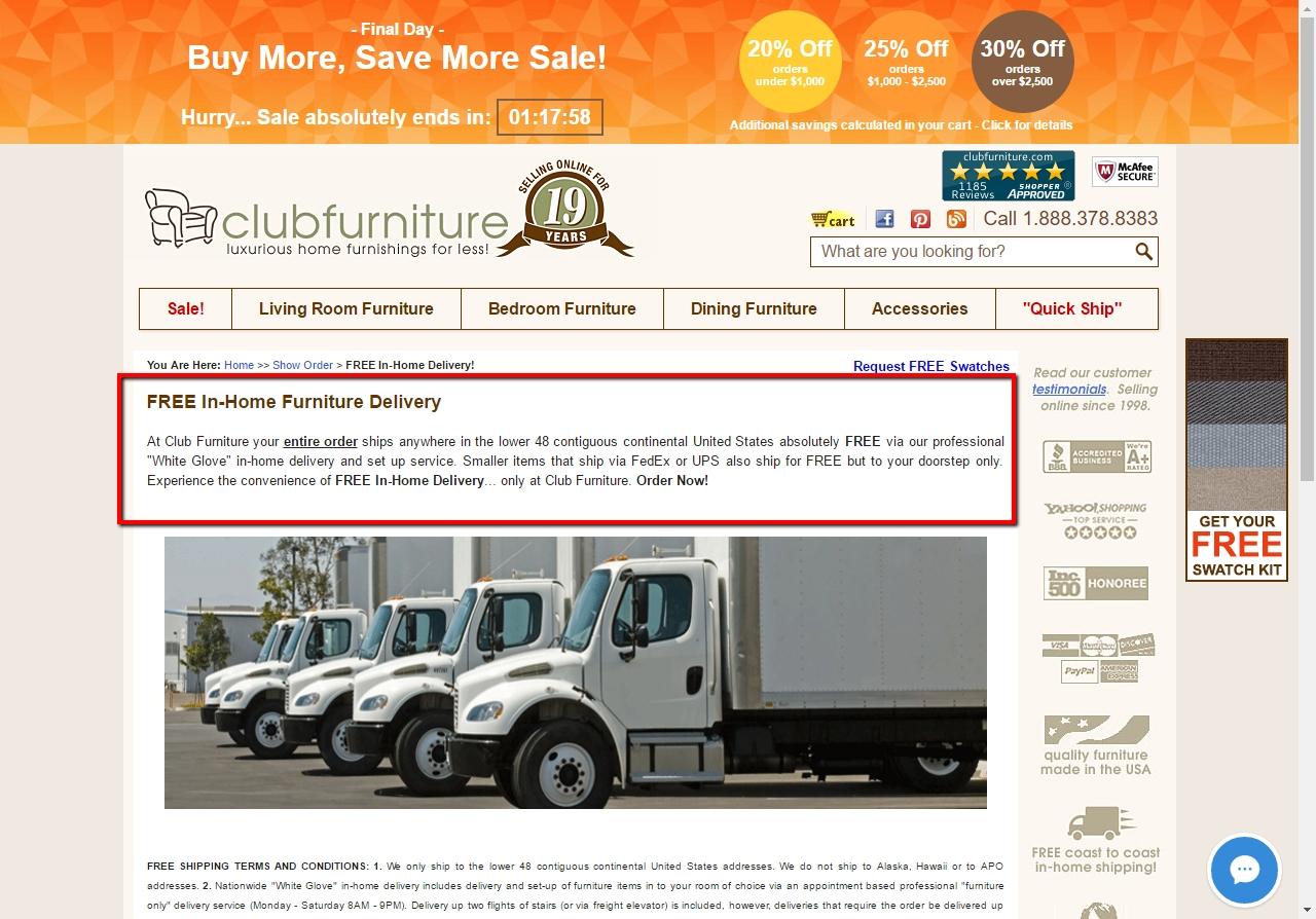 $50 f Club Furniture Coupon Code