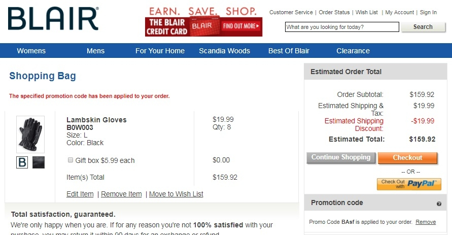 Blair coupons free shipping