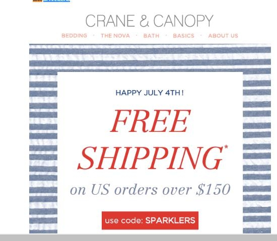 Crane and Canopy Coupon & Promo Codes. / Crane and Canopy Coupons. Add to Your Favorites. from 9 users. We have a Crane And Canopy sale for you. Most popular now: Free Return Shipping Latest offer: Free Return Shipping. Would you recommend this .