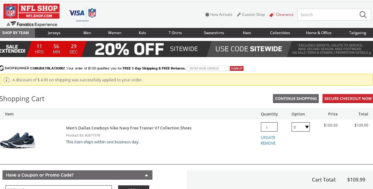 Nflshop com coupon code
