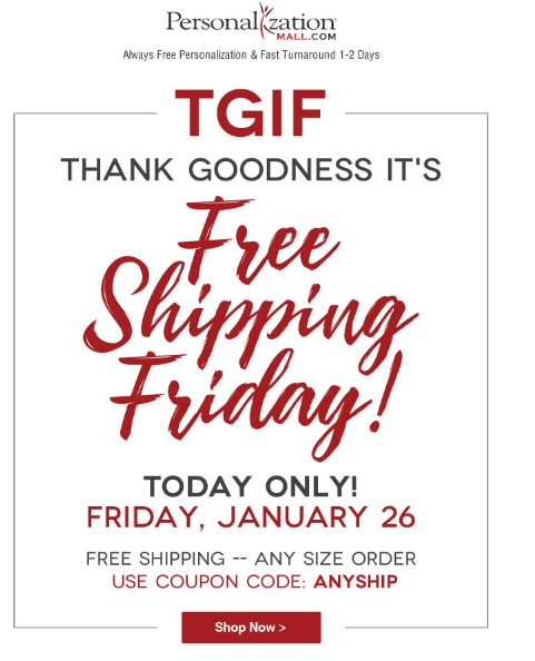Personalization mall free shipping coupon code
