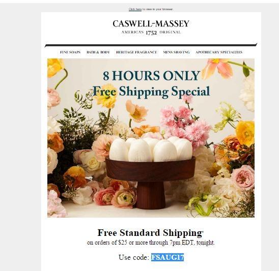 5 Off Caswell Massey Coupon Code 2017 Promo Code Dealspotr