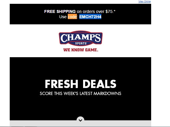 Champs Sports has a large selection of athletic footwear, apparel, accessories and assorted equipment for men, women and kids as goods of up to brands can be found.