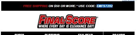 Final score coupon code