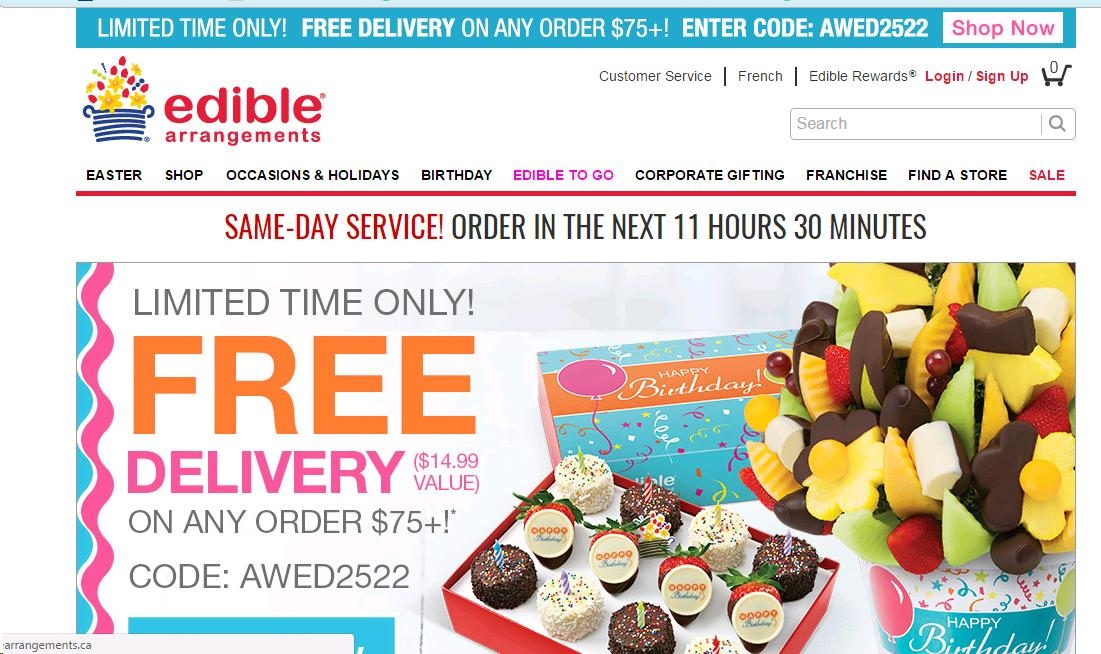 Edible arrangements coupon code free shipping 2018