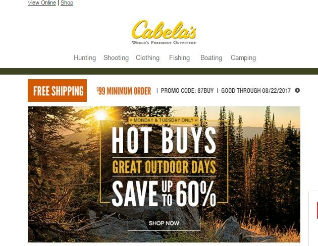 Whatever your question, problem, or comment, Cabela's Customer Service is here to help. There are four quick, easy ways to call on us, so you can choose what works best for you.