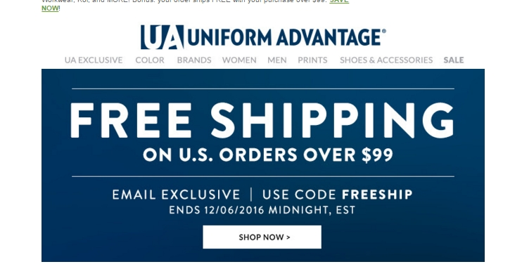 Save with a $ Off Uniform Advantage coupon code and other free promo code, discount voucher at thritingetfc7.cf Expiring Uniform Advantage Coupons. Good luck! 20%. off DEAL. Click to get code! It's 20% off Free shipping with Uniform Advantage coupon. Free Ground Shipping On U.S Orders Over $ Try Code.