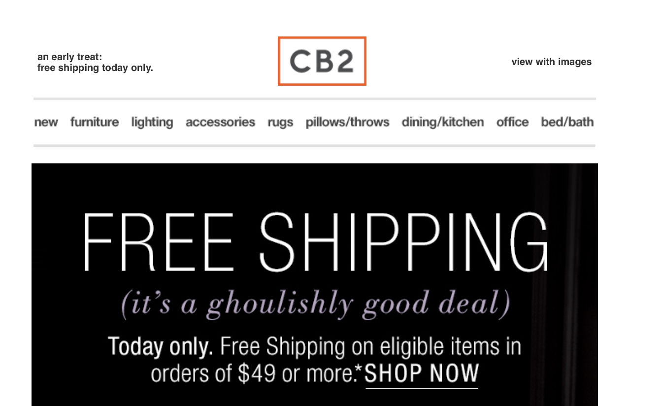 50 Off Cb2 Coupon Code Save 20 In Nov W Promo Code 2016