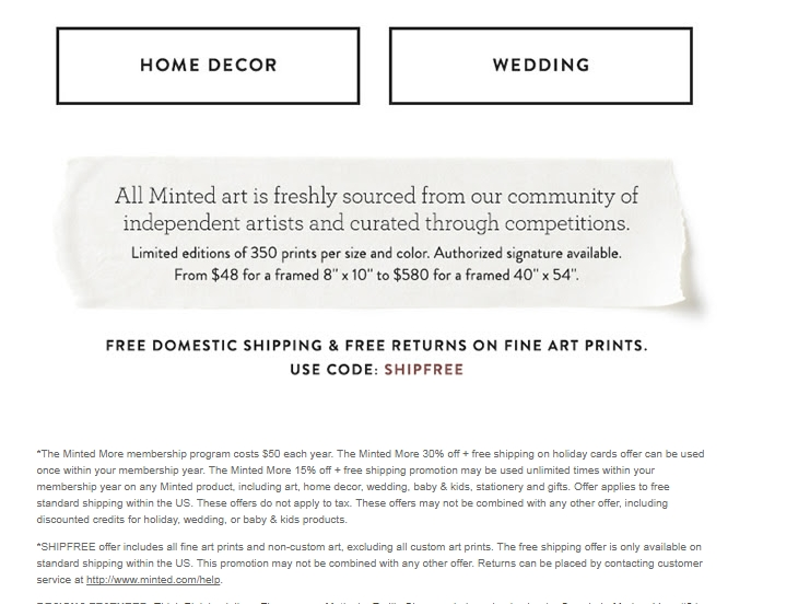 Minted com coupon code