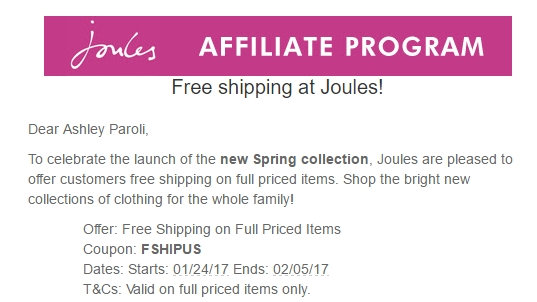Joules coupon code