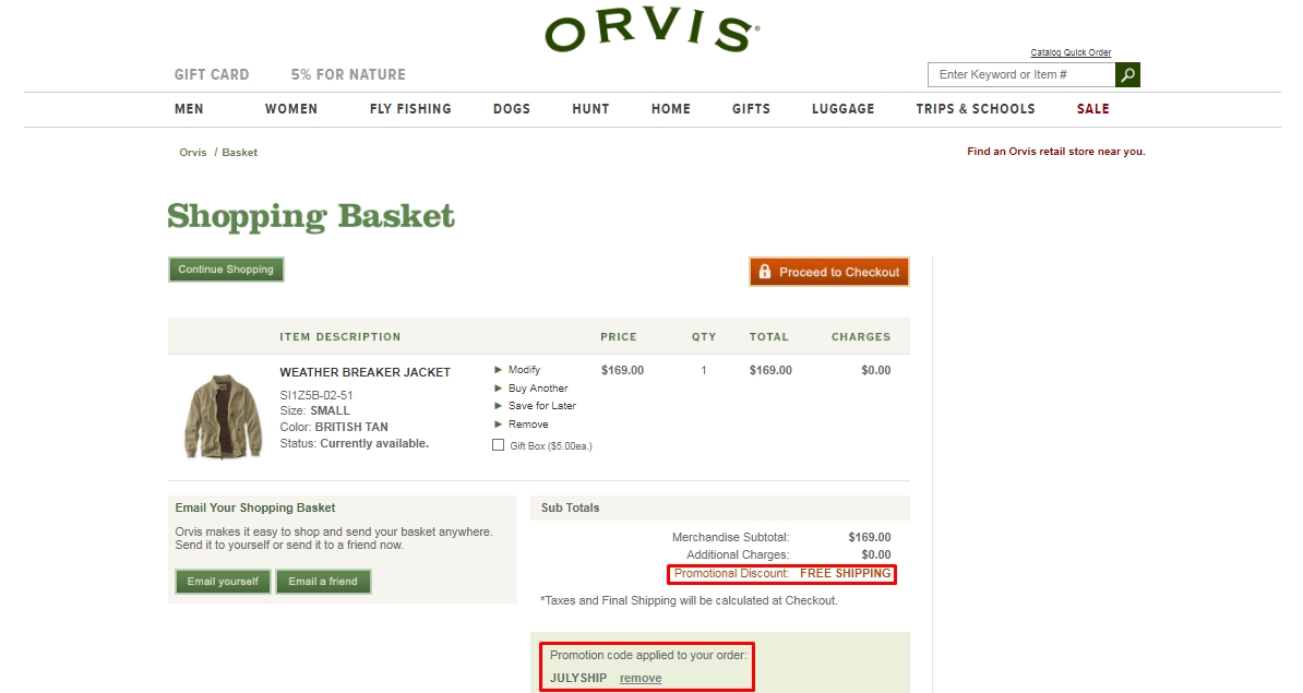 How to use a Orvis coupon