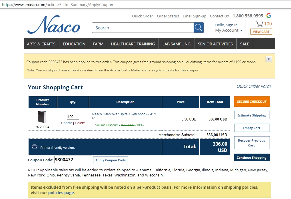 Enasco coupon code