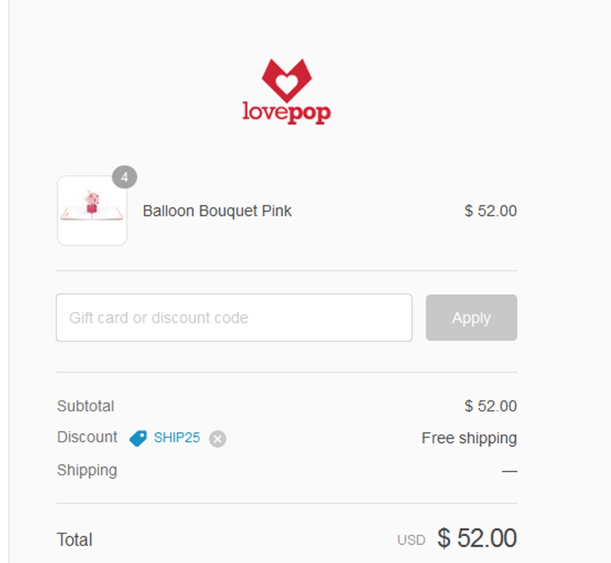 Lovepop coupon code