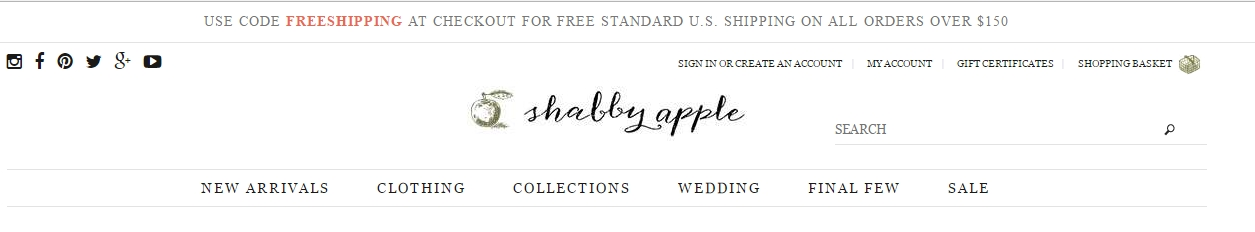 The best Shabby Apple promo code right now is HAPPYDRESS. This code is for 'Buy 1 Dress or Skirt and Get a Free Dress'. This code is for 'Buy 1 Dress or Skirt and Get a Free Dress'. Copy it and enter it on the Shabby Apple checkout page to use it.