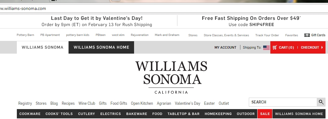 Williams sonoma home discount coupons