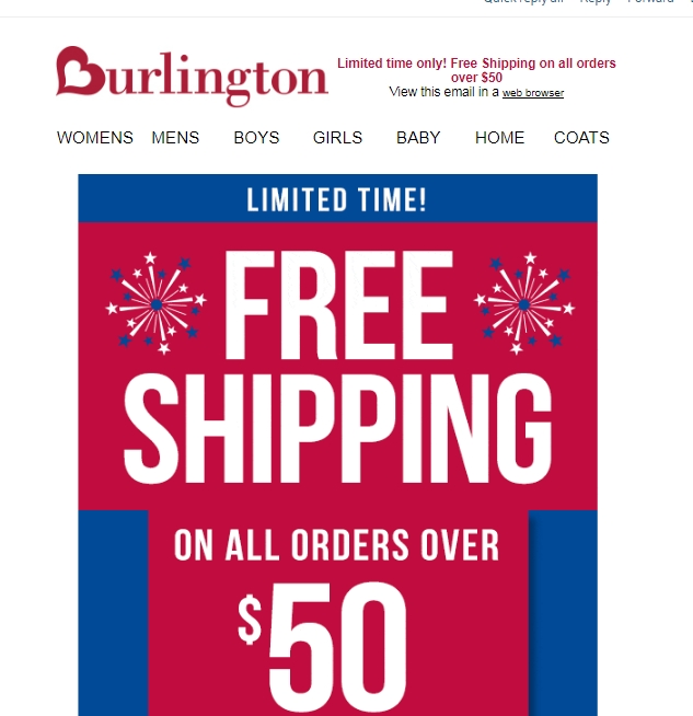Dress your family well – even on a budget! – with Burlington promo codes: Save on staying warm with coats such as women's Baby Phat bomber jackets, men's New Balance workout jackets, and kids' London Fog all-weather gear.