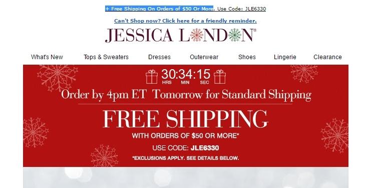 Jessica london coupon code