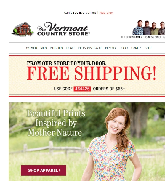 Past Vermont Country Store Coupon Codes