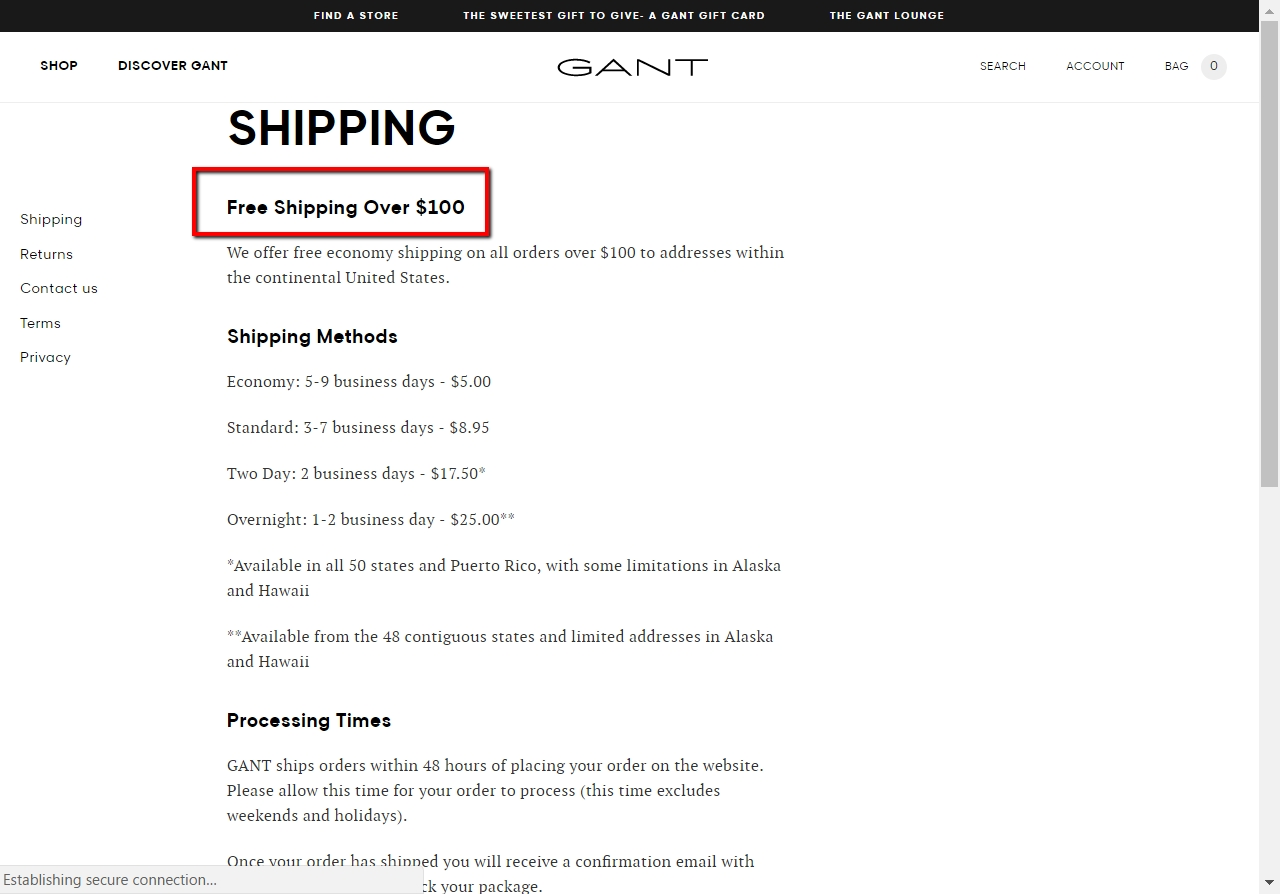 Gant discount coupons