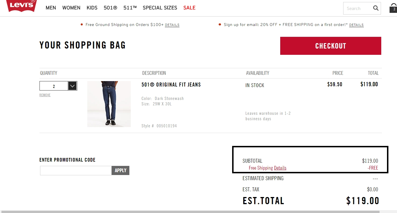 Levis coupon code october 2018