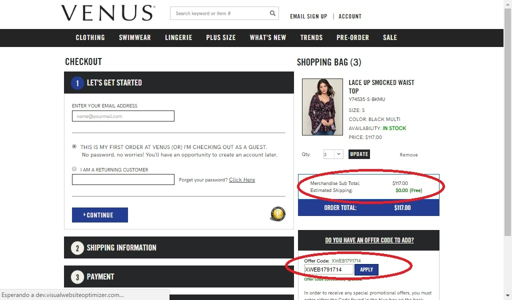 Venus coupon code 20 off