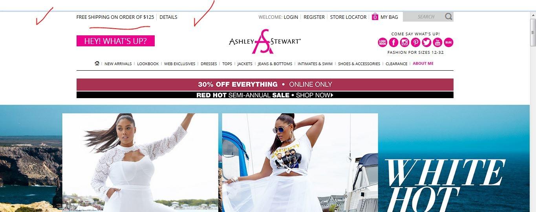 Ashley stewart coupon codes free shipping