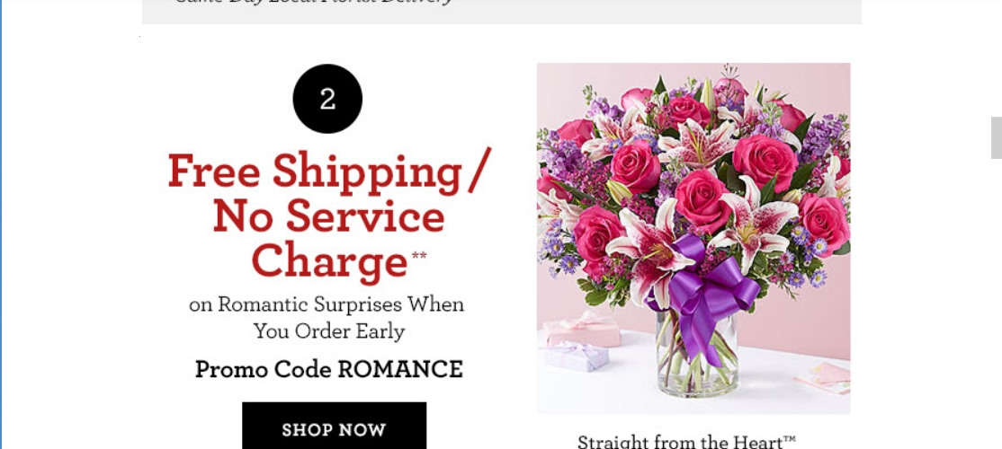 1800 Flowers Promo Code Shipping
