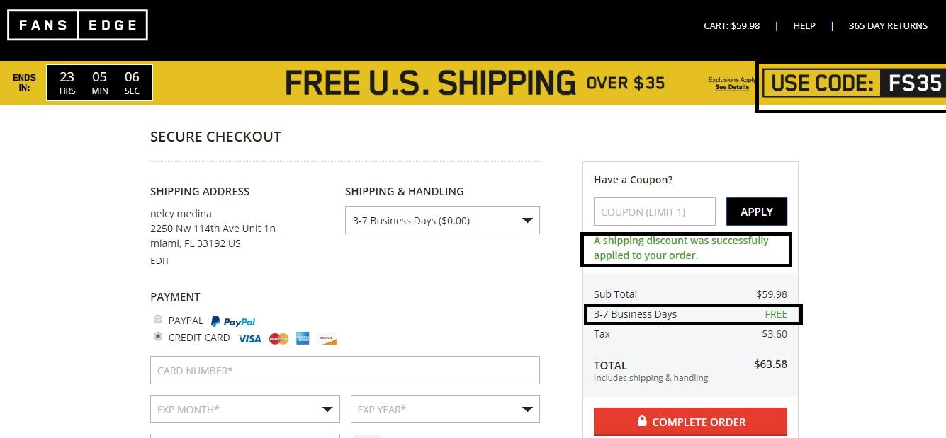 Fansedge discount coupons