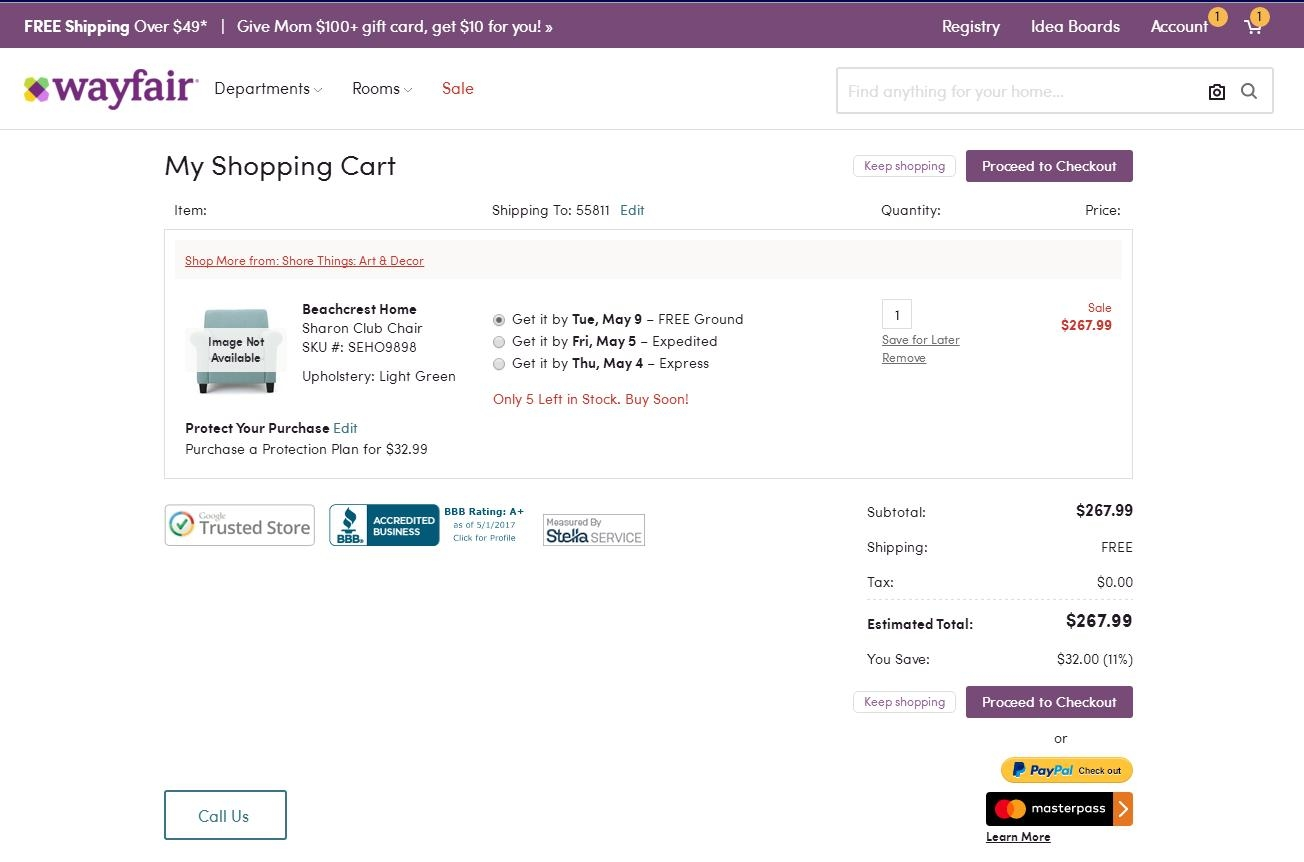 Wayfair coupon code 20 off